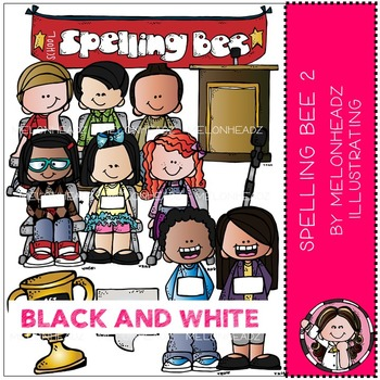 Melonheadz: Spelling Bee 2 BLACK AND WHITE