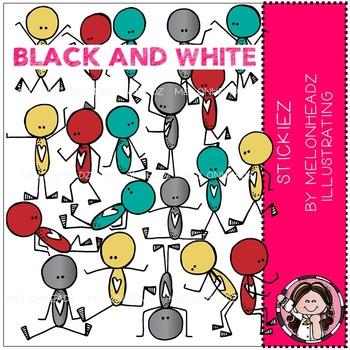 Melonheadz: Stickiez BLACK AND WHITE