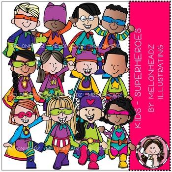 Melonheadz: Superhero clip art - Kids - Combo Pack