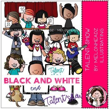 Melonheadz: Talent Show clip art - BLACK AND WHITE