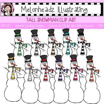 Melonheadz: Tall Snowman clip art - Single Image