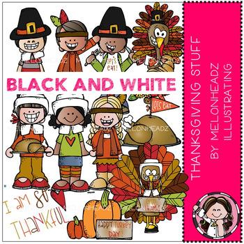 Melonheadz: Thanksgiving Stuff clip art - BLACK AND WHITE
