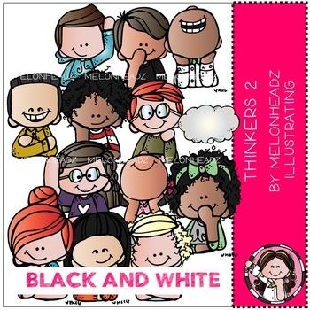 Melonheadz: Thinkers 2  BLACK AND WHITE