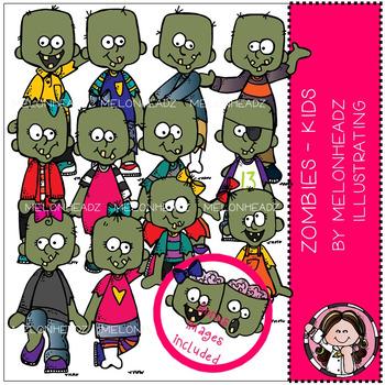 Melonheadz: Zombies clip art - Kids