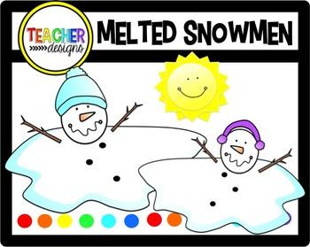 Melted Snowmen Clip Art