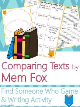 Mem Fox Author Study {NO PREP Writing Activities & Game}