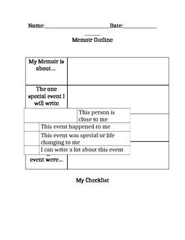 Memoir Graphic Organizer