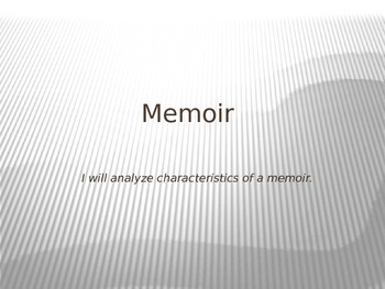 Memoir PowerPoint Lecture with Guided Practice