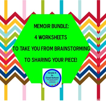 Memoir bundle: 4 worksheets generate idea, brainstorm, pee