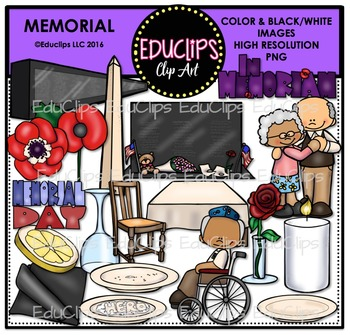 Memorial Clip Art Bundle {Educlips Clipart}