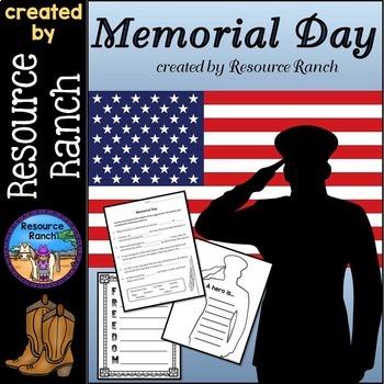 Memorial Day Printables Reader Vocabulary Craft