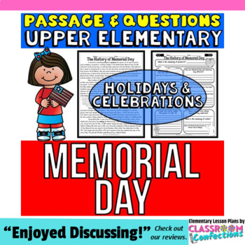 Memorial Day: Passage and Questions: Reading Comprehension