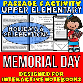 Memorial Day Passage and Questions: Interactive Notebook Activity