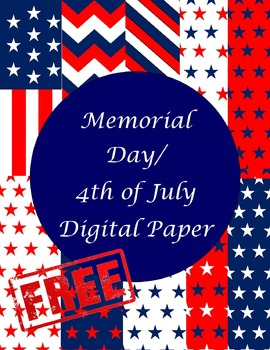 Memorial Day/4th of July Digital Papers