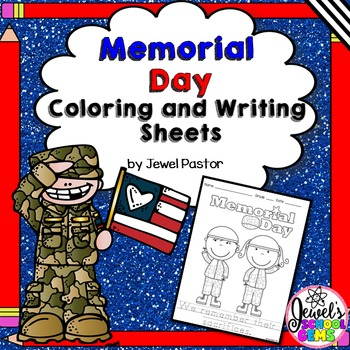 Memorial Day Coloring and Writing Pages