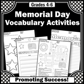 memorial day teaching worksheets printable