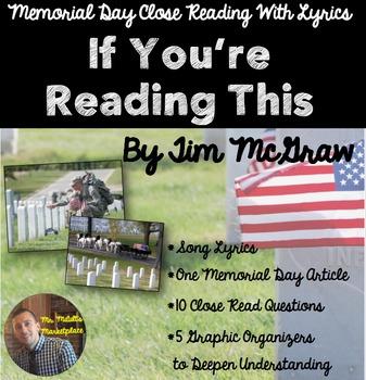 Memorial Day Close Read Using Song Lyrics: If You're Readi