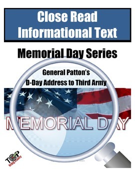 Memorial Day Close Reading General Patton D-Day Third Army