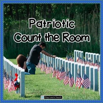 Patriotic Memorial Day Count the Room 1-30