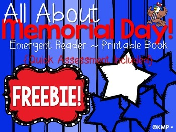 Memorial Day Emergent Reader with Quick Recall Assessment