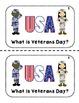 Veterans Day {Emergent Reader}