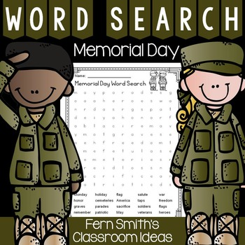 FREE Memorial Day Word Search