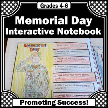 memorial day craft activity craftivity interactive notebook