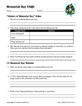 Memorial Day: Internet Research