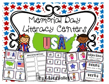 Memorial Day {Literacy Centers & Printables}