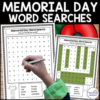 Memorial Day No Prep Word Search