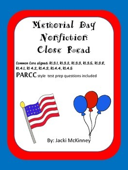 Memorial Day Nonfiction PARCC Close Read