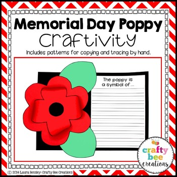Memorial/Remembrance Day Poppy Craftivity