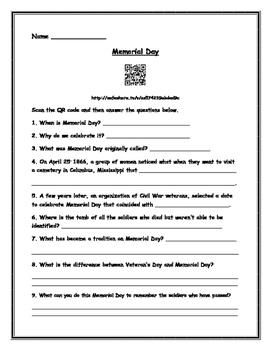 Memorial Day- QR Code