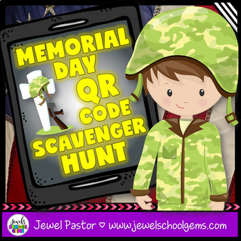 Memorial Day QR Codes Scavenger Hunt Activities