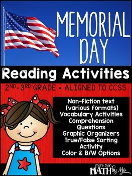 Memorial Day Reading Activities {Non-Fiction Unit}