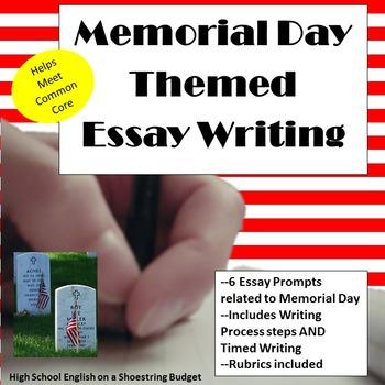 Memorial Day Themed Essay Writing, w Rubrics & Printables