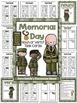Memorial Day Noun or Verb Task Cards, Recording Sheets and
