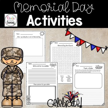 Memorial Day Word Search and Activity
