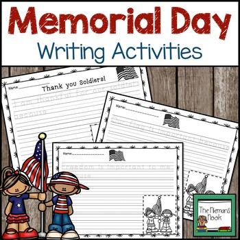 Memorial Day and Flag Day Writing Prompts Grades1-2