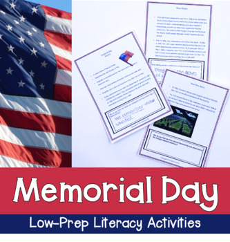 Memorial Day for Grades 1-3 With Literacy Activities