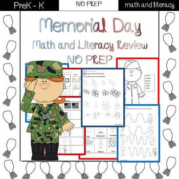 Memorial Day/End of the Year Review: PreK-Preschool NO PRE