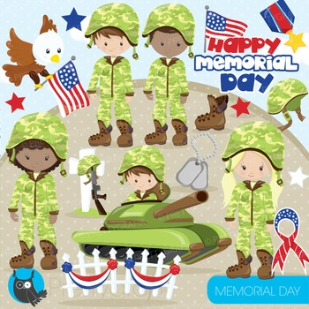 Memorial day clipart commercial use, graphics, digital cli