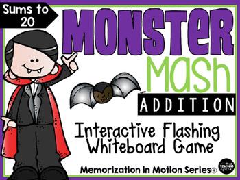 Memorization in Motion Addition- Monster Mash Halloween Edition
