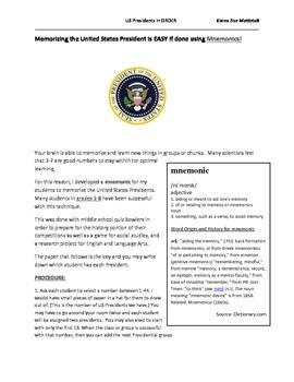 Memorize All US Presidents