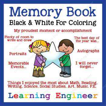 2nd Grade Memory Book and 3rd Grade Memory Book (Black & White)