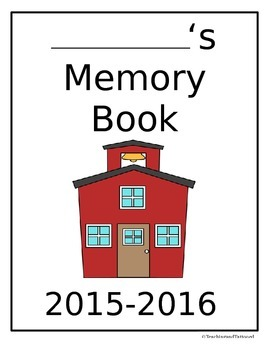 Memory Book Cover Page- School House