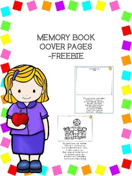 Memory Book Cover Page/Poem -Freebie