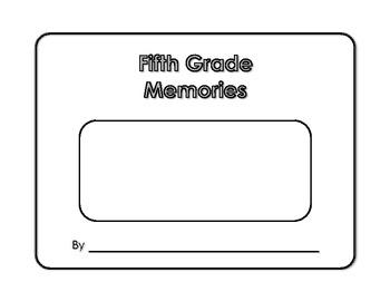 Memory Book - Fifth Grade Memories - Yearbook - Scrapbook
