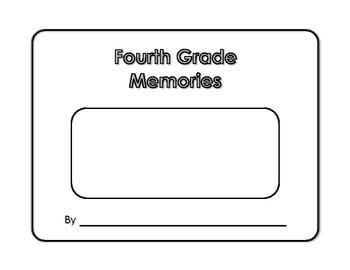 Memory Book - Fourth Grade Memories - Yearbook - Scrapbook