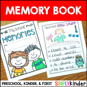 Kindergarten Memory Book & First Grade Too